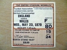 Tickets/ Stubs- 1979 Int'l Match ENGLAND v WALES, 23 May (British Championship)