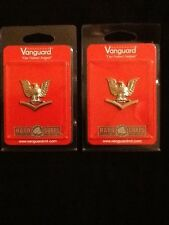 TWO HARD CORPS VANGUARD EAGLE PINS