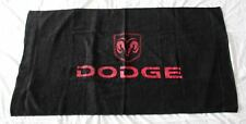 NEW DODGE BEACH BATH TOWEL flag bag durango nigro viper dakota journey
