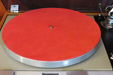 NEW Audiophile RED Leather Turntable Mat Rega Linn Avid Pro-Ject VPI Thorens