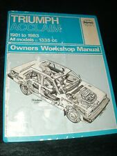 TRIUMPH ACCLAIM WORKSHOP MANUAL 1981 TO 1983