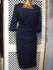 *Kaleidescope*Size 16 Navy Blue Ruched Fitted Dress NEW*