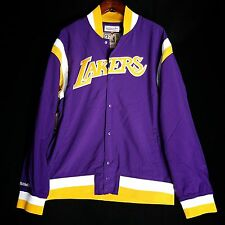 100% Authentic Mitchell & Ness Lakers Warm up Jacket size 48 XL - kobe