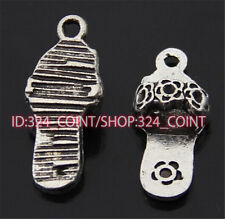 P347 15pc Tibetan Silver slippers Charm Beads Pendant accessories wholesale