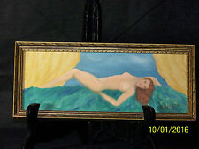 Art Deco c1925-1940 Original Oil Nude Painting Artist Signed Framed