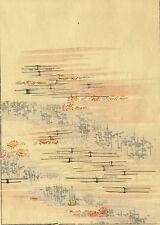Japon Décoration Florale Paysage Motif Japonais - Estampe Japonaise XIXème