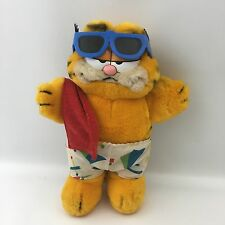 Vintage Garfield The Cat Plush Dakin 1981 Swim Trunks Towel Sunglasses Summer