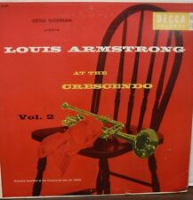 Louis Armstrong at the Crescendo Vol 2 33RPM DL8169 Decca  010817LLE