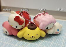 Sanrio Hello Kitty Pom Pom Purin Melody Cinnamoroll Big Head Mascot - Takara