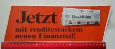 Aufkleber/Sticker A4: Handelsblatt Wirtschafts und Finanzzeitung (030316155)