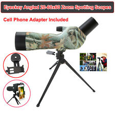 Eyeskey Angled 20-60x60 Zoom Waterproof Fully Multi-Coated Spotting Scope&Tripod