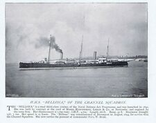 HMS Bellona of the Channel Squadron - Antique Photographic Print 1896