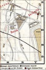 Dresden Reick Seidnitz Gruna 1910 Teil-Stadtplan/Ln proj. Bebauung + Radrennbahn