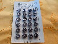 carte petits boutons  fer ====1cm==3lots disponibles de 8boutons  tres anciens