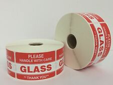 500 Labels 2x3 Please GLASS Warning Handle with Care Shipping Mailing Stickers
