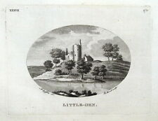LITTLEDEAN TOWER, MAXTON, MELROSE, SCOTLAND, Pennant original antique print 1776