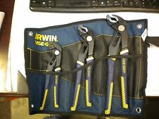 """IRWIN VISE-GRIP GROOVELOCK PLIER SET 8"""", 10"""" AND 12"""" W/POUCH"""