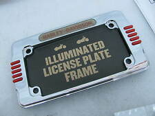 New Harley Illuminated License Plate Frame Kit 59030-03 Sportster Softail Dyna