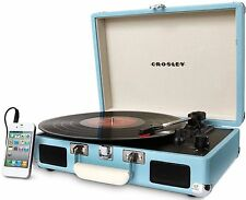Crosley CR8005A-TU Cruiser 3 Speed Portable Turntable Record Player Turquoise!!