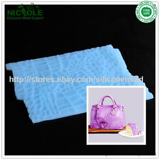 The Crocodile Leather Bag Alligator Silicone Mat For DIY Fondant Cake Decorating