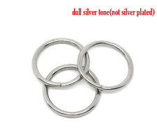 Silver Tone Open Jump Rings 14mm Dia. Findings, pack of 100 SP0146