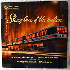 Radio City Symphony Orchestra Paige Showplace of the Nation LP NM 1st Black Iss