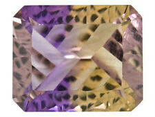 IF ~ 3.75 CT ~ Ametrine Purple & Yellow ~ Octagon ~ CONCAVE CUT Natural Gemstone