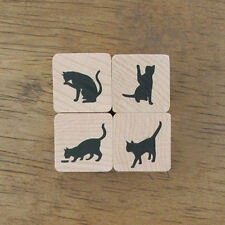 Decorative Stamps Rubber Stamp_Silhouette Cats Set (4EA)