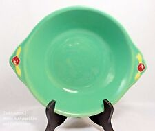Coors Colorado Pottery Green Rosebud Vegetable Serving Bowl Handled Large 10""