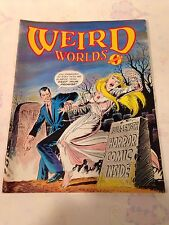 Vintage Weird Worlds Number ( No. ) 4 Magazine 1980