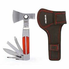 WORKPRO 12 in 1 Outdoor Camping Multi Tool Axe Hammer Knife Plier Saw Hardwood