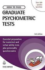 How to Pass Graduate Psychometric Tests 3rd edition by Mike Bryon (paperback)