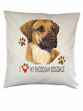 Rhodesian Ridgeback Heart Breed of Dog Cotton Cushion Cover - Perfect Gift