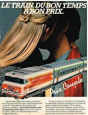 Publicité Advertising 1983 Transport Train SNCF ....Prix couple