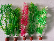 "Aquarium Artificial / Plastic Plant 5 in 1  for Decoration - 10"" Height"