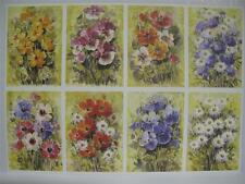 10 x A4 120gsm 1-Sided Watercolour Flower Prints Card Toppers Cardmaking