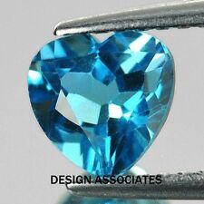 SWISS BLUE TOPAZ  5 MM HEART CUT ALL NATURAL  AAA