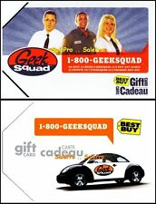 2x BEST BUY GEEK SQUAD TEAM VW VOLKSWAGON BILINGUAL COLLECTIBLE GIFT CARD LOT