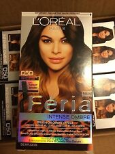 L'OREAL PARIS HAIR DYE 8-PACK! FERIA INTENSE OMBRE-DARK BROWN TO SOFT BLACK 050