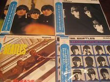 BEATLES MONO JAPAN OBI 4 LP FOR SALE HARD DAYS WITH BEATLES PLEASE ME 2016 PRICE