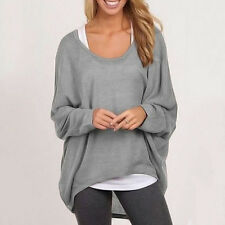 Plus Size Womens Loose Batwing Sleeve Shirt Blouse Baggy Tops Casual Jumper 8-24