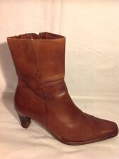 Pikolinos Brown Ankle Leather Boots Size 38