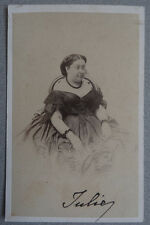 Photo Albumin Reine de Parme Carte de Visite Cdv Vers 1860