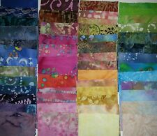 "Lot of 100pcs BATIK quilt blocks, cotton fabric charm pack, 6"" squares"