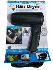 CAMPING CARAVAN 12V IN CAR HAIR DRYER PORTABLE CAMP TRAVEL FESTIVAL GIRL GIFT