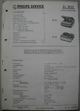 PHILIPS el3531 REGISTRATORE Service Manual, edizione 08/61