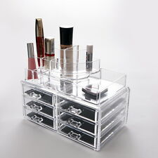 Quality Makeup Cosmetic Clear Acrylic Organiser Organizer Display with Drawers i