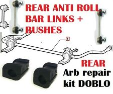 FIAT DOBLO REAR ANTI ROLL BAR BUSHES REPAIR KIT & SUSPENSION LINKS 46767262