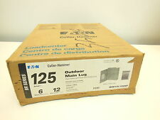 Cutler Hammer 125A Outdoor Main Lug load center 1 Phase 3 Wire BR612L125RP