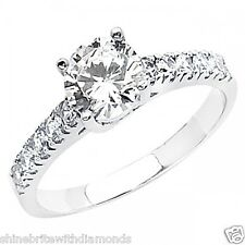 1.75 Ct Round Cut Engagement Wedding Promise Ring Trellis Solid 14K White Gold